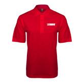 Red Easycare Pique Polo-NAVS