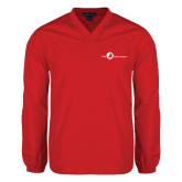 V Neck Red Raglan Windshirt-The Navigators