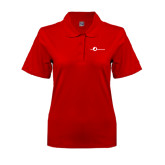 Ladies Easycare Red Pique Polo-The Navigators