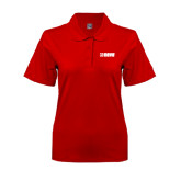 Ladies Easycare Red Pique Polo-NAVS