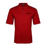Red Performance Fine Jacquard Polo-NAVS Tone