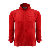 Fleece Full Zip Red Jacket-The Navigators Tone