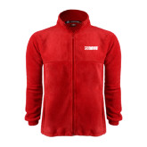 Fleece Full Zip Red Jacket-NAVS