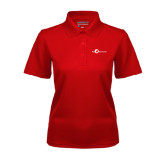 Ladies Red Dry Mesh Polo-The Navigators