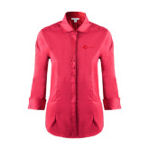 Ladies Red House Red 3/4 Sleeve Shirt-The Navigators Tone