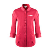 Ladies Red House Red 3/4 Sleeve Shirt-NAVS