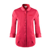 Ladies Red House Red 3/4 Sleeve Shirt-NAVS Tone