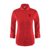 Ladies Red House Red 3/4 Sleeve Shirt-Glen Eyrie Tone