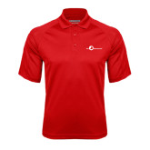 Red Textured Saddle Shoulder Polo-The Navigators