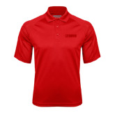 Red Textured Saddle Shoulder Polo-NAVS Tone