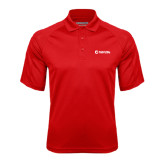 Red Textured Saddle Shoulder Polo-NAV 20s