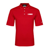 Nike Golf Dri Fit Red Micro Pique Polo-NAVS Tone