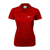 Ladies Nike Golf Dri Fit Red Micro Pique Polo-The Navigators Tone