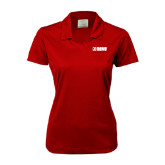 Ladies Nike Golf Dri Fit Red Micro Pique Polo-NAVS Tone
