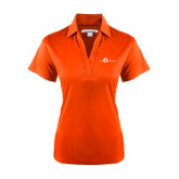 Ladies Orange Performance Fine Jacquard Polo-The Navigators