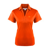 Ladies Orange Performance Fine Jacquard Polo-The Navigators Tone