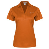 Ladies Orange Performance Fine Jacquard Polo-Navigators