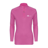 Ladies Syntrel Interlock Raspberry 1/4 Zip-The Navigators
