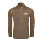 Nike Sphere Dry 1/4 Zip Olive Khaki Cover Up-NAVS