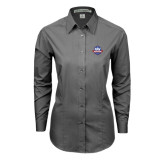 Ladies Grey Tonal Pattern Long Sleeve Shirt-NAV Responder