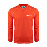 Colorblock V Neck Orange/White Raglan Windshirt-The Navigators