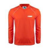 Colorblock V Neck Orange/White Raglan Windshirt-NAVS