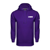 Under Armour Purple Performance Sweats Team Hoodie-NAVS