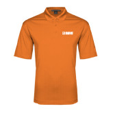 Orange Performance Fine Jacquard Polo-NAVS