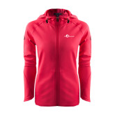Ladies Tech Fleece Full Zip Hot Pink Hooded Jacket-The Navigators