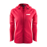 Ladies Tech Fleece Full Zip Hot Pink Hooded Jacket-NAVS