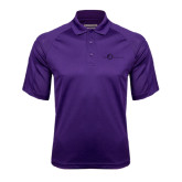 Purple Textured Saddle Shoulder Polo-The Navigators Tone