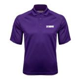 Purple Textured Saddle Shoulder Polo-NAVS
