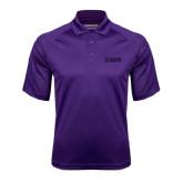 Purple Textured Saddle Shoulder Polo-NAVS Tone