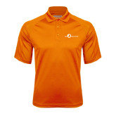 Orange Textured Saddle Shoulder Polo-The Navigators