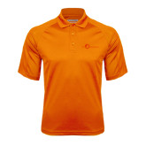 Orange Textured Saddle Shoulder Polo-The Navigators Tone