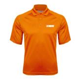 Orange Textured Saddle Shoulder Polo-NAVS