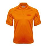 Orange Textured Saddle Shoulder Polo-NAVS Tone