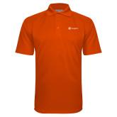 Orange Textured Saddle Shoulder Polo-Navigators