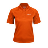 Ladies Orange Textured Saddle Shoulder Polo-The Navigators