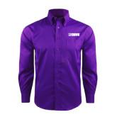 Red House Deep Purple Herringbone Long Sleeve Shirt-NAVS