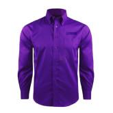 Red House Deep Purple Herringbone Long Sleeve Shirt-NAVS Tone