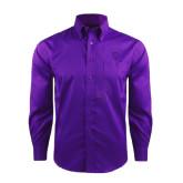 Red House Deep Purple Herringbone Non Iron Long Sleeve Shirt-Glen Eyrie Tone
