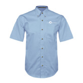 Light Blue Twill Button Down Short Sleeve-The Navigators