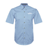 Light Blue Twill Button Down Short Sleeve-Eagle Lake