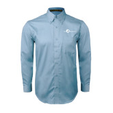Light Blue Twill Button Down Long Sleeve-The Navigators