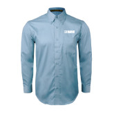 Light Blue Twill Button Down Long Sleeve-NAVS