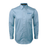 Light Blue Twill Button Down Long Sleeve-NAVS Tone