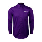 Purple Twill Button Down Long Sleeve-The Navigators