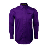 Purple Twill Button Down Long Sleeve-NAVS Tone