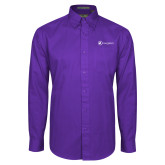Purple Twill Button Down Long Sleeve-Navigators